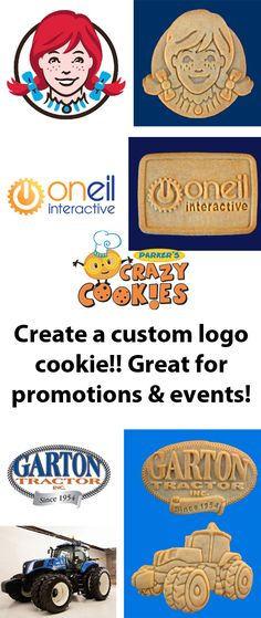 Custom logo cookies are great for corporate events!! Discover the magic at www.parkerscrazycookies.com. As seen on the Food Network and Today Show!!