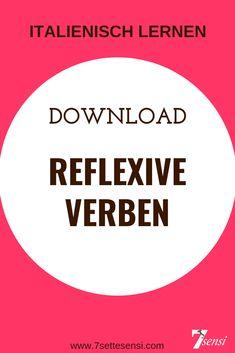 Learn Italian: Reflexive verbs at a glance. Attention: Not all reflexive . Reflexive Verben, Learning Italian, Languages, Bella, Italy, Frases, Italian Grammar, Irregular Verbs, Studying