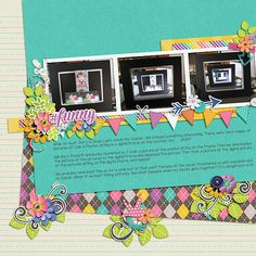 Photo in a Photo ~ Template & kit, Happiness Project, both by Meagan's Creations.