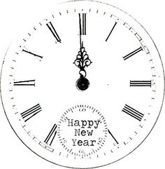 Clocks printable for New Year