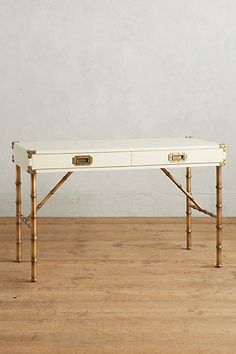 Lacquered Wellington Desk #anthropologie - The Mint color is to die!!