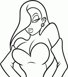 how to draw jessica rabbit easy step 7