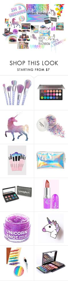 """""""rainbow makeup💄"""" by molliesdesigns ❤ liked on Polyvore featuring beauty, BHCosmetics, Urban Decay, FCTRY, Devinah Cosmetics, Pantene and Hudson Jeans"""