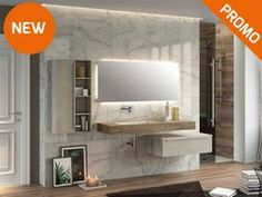 Mobile bagno Topsy unitop 140 in ocritech hpl