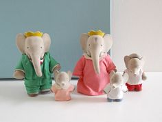 Figurines family Babar by BrocAndPop on Etsy