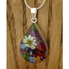 Teardrop Flower Silver Pendant (Large) | Handmade Mexican jewellery from Silver Bubble http://silverbubble.co.uk/teardrop-rose-poppy-flower-silver-pendant-large-3395