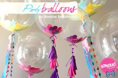 PARTY Bonjour Balloons! Balloons for all party occasions! Customizable and Adorable!