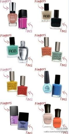 How to combine colors on fingers & toes :)