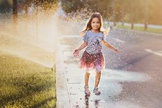 Playing with water, one of the endless joys of being a kid ~ ~ ~ Lifestyle Photography, Children Photography, Photographing Kids, Family Photographer, Instagram Feed, Studio, Girl Smile, Romania, Water