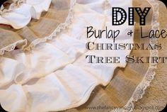 DIY Tutorial: DIY Christmas Crafts / DIY NO SEW Ruffle Burlap and  Lace Christmas Tree Skirt - Bead&Cord