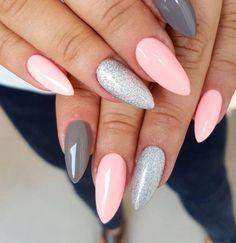 #gelnails  nails, gel pink nails#, glitter nails#,  nail art 2018#, nail art designs, nail colors, acrylic nails, coffin nails