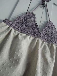 Triangle crochet top