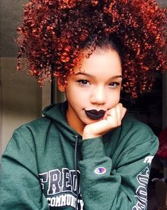 Afro High Ponytail Kinky Curly Hair Hairstyle Pretty Girl Swag Dope Beautiful Sensualsierra