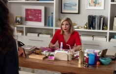 The Hexagon Pencil Holder as seen on the set of Grace and Frankie