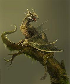 Amfisbena: Forest Dragon by *telthona on deviantART