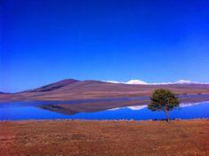 Paravani- volcanic lake in Georgia