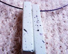 White concrete unique necklace Pendant Set, Pendant Necklace, Promise Necklace, Unique Necklaces, Unique Jewelry, White Concrete, Friends In Love, Voss Bottle, Wedding Engagement