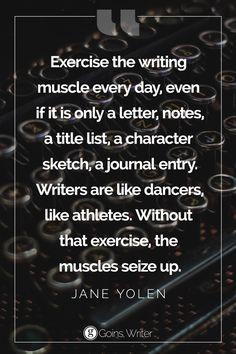"""Exercise the writin"