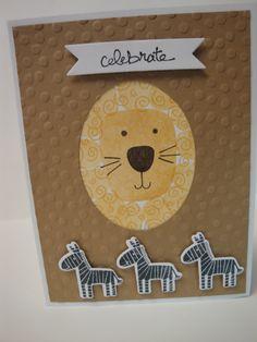 Kid - Birthday Lion Playful Pals Stampin Up