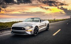 Download wallpapers Ford Mustang GT California Special, 4k, cabriolets, 2019 cars, road, supercars, new Mustang, Ford