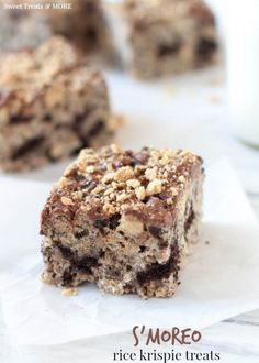 S'moreo Rice Krispie Treats by Sweet Treats and More on iheartnaptime.com