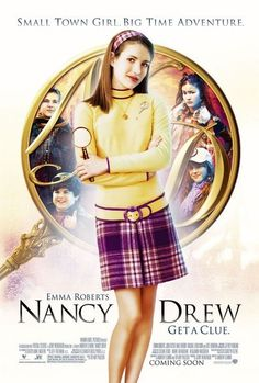 Nancy Drew is a 2007 American film loosely based on the popular series of mystery novels about the teen detective. It stars Emma Roberts as Nancy Drew. Nancy Drew 2007, Nancy Drew Movie, Emma Roberts, Love Movie, Movie Tv, Movie List, Epic Movie, Movies Showing, Movies And Tv Shows