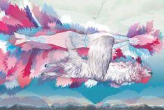 by alica gurinova Owl Illustration, Animation Film, Illustrators, Creative, Anime, Painting, Beautiful, Art, Blog