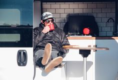 Native Campervans just introduced a new campervan called The Biggie! It's a 2016 ProMaster built out camper van for two with a queen-sized bed, full kitchen, fridge and big gear storage nook. Van Conversion Shower, Van Conversion Interior, Camper Van Conversion Diy, Chevrolet Van, Luxury Van, Van Dwelling, Ram Promaster, Queen Memory Foam Mattress, Cargo Van