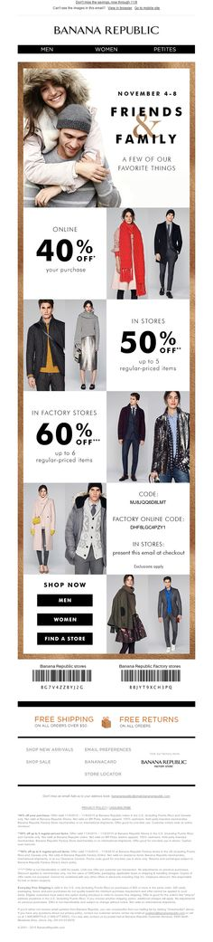 Banana Republic - Just for you: a very special Friends & Family offer