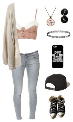 """""""idk what this is"""" by lackingingrace ❤ liked on Polyvore featuring Zara, Converse and Brixton"""