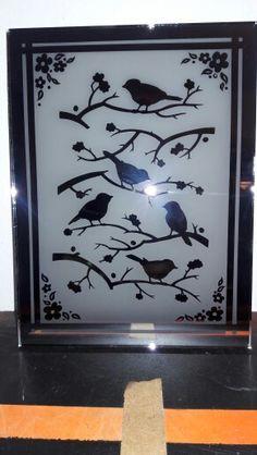 Etched mirror/bird