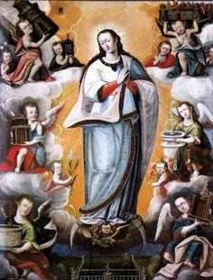 Luis de Riaño, Immaculate Conception, 1618-26, oil on canvas, 128 x 103 cm., Convento Franciscano de la Recoleta, Cuzco.