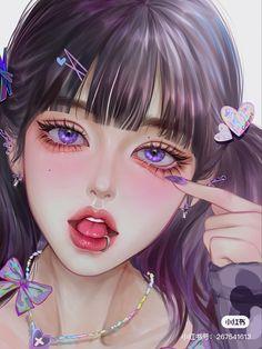 Dark Anime Girl, Pretty Anime Girl, Cool Anime Girl, Beautiful Anime Girl, Kawaii Anime Girl, Anime Art Girl, Digital Art Anime, Digital Art Girl, Cartoon Girl Images