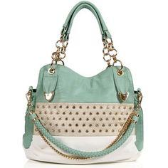 Mint Rhinestone Handbag