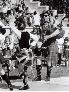 Highland Festival Dancers and Bagpiper - Alma college USA.