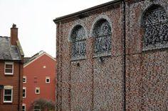 Norwich building transformed by text of Thomas More's Utopia - Artist Rory Macbeth via @deptofdev