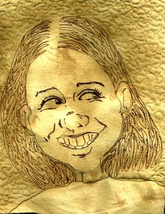 Thread sketched caricature