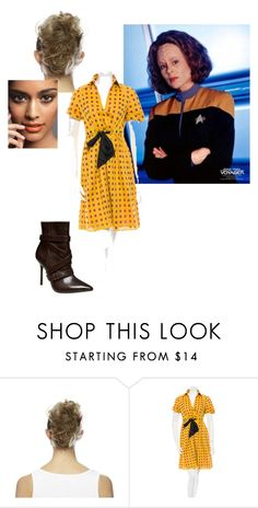 """""""On the Town on Qo'noS (B'Elanna Torres)"""" by catsilvermoon ❤ liked on Polyvore featuring Love Hair Extensions, Diane Von Furstenberg and Alice + Olivia"""