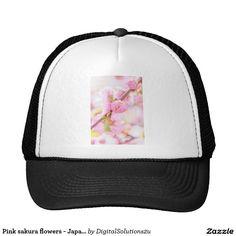Pink sakura flowers - Japanese cherry blossom Trucker Hat