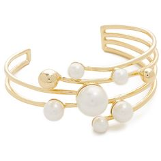 Kate Spade New York Bits & Baubles Statement Cuff (1 520 ZAR) ❤ liked on Polyvore featuring jewelry, bracelets, cream, cuff jewelry, bauble jewelry, hinged cuff bracelet, kate spade jewelry and kate spade