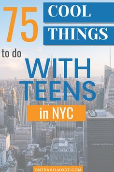 If you are planning a trip to New York City with Teens this very valuable list is a must read before heading out.  A native New York City family shares everything from extreme rides to museums to pizza spots. #ontravelmode #nyc #newyorkcity #teens