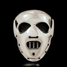 """Hannibal Skull Ring - Sterling Silver """"Hello Clarice"""" No denying here that The Silence of the Lambs movie inspired this design. Hannibal Lector's character was just heart pounding and twisted as can be and is one of our favorite movies of all time! Crafted in solid 925 sterling silver and with close attention to detail this ring is a killer!"""