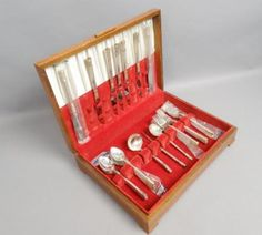 Estate-Wallace-Aegean-Weave-Sterling-Silver-Gold-Service-for-7-Flatware-Set