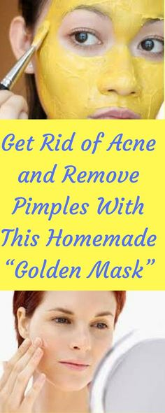 -remove-pimples- homemade -golden-mask/