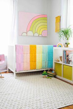 Modern Pastel Crib Quilt DIY - A Beautiful Mess