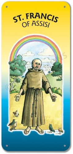 Francis of Assisi - Display Board McCrimmon Saints collection, church display board sold by McCrimmons Francis Of Assisi, St Francis, Poster On, Poster Prints, Church Banners, Catholic, Saints, October, Boards