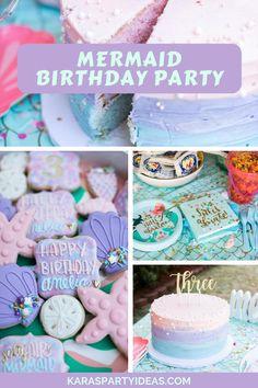 Mermaid Theme Birthday, 1st Birthday Girls, Birthday Parties, Birthday Ideas, Mermaid Party Decorations, Mermaid Parties, Mermaid Gifts, Mermaid Cakes, Donut Party