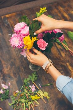 arranging flowers, how to prepare grocery store flowers