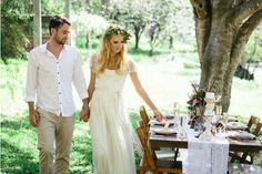 Beaded-Cap-Sleeve-Wedding-Dresses-perfect-for-a-bohemian-bride-Beach-Bridal-Gown