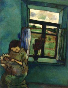 Marc Chagall. Bella e Ida junto a la ventana, 1916. Óleo sobre lienzo. Colección privada. WikiPaintings.org - the encyclopedia of painting
